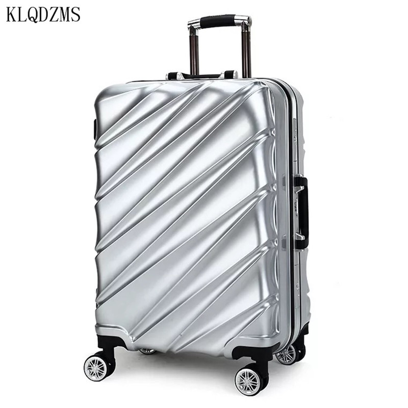 KLQDZMS 20 inch Women Carry on Travel Bag ABS+PC Suitcase Rolling Luggage Lightweight 24 inch StudentsTrolley  Suitcase Wheels