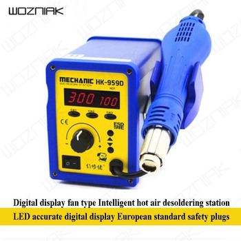 Wozniak LED Digital Display Fan Type Intelligent Hot Air Desoldering Station HK959D Heat Gun EU Plug