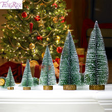 FENGRISE Christmas Tree Decorations Mini Christmas Tree Ornaments Artificial Christmas Tree Table Decoration Navidad New Year(China)