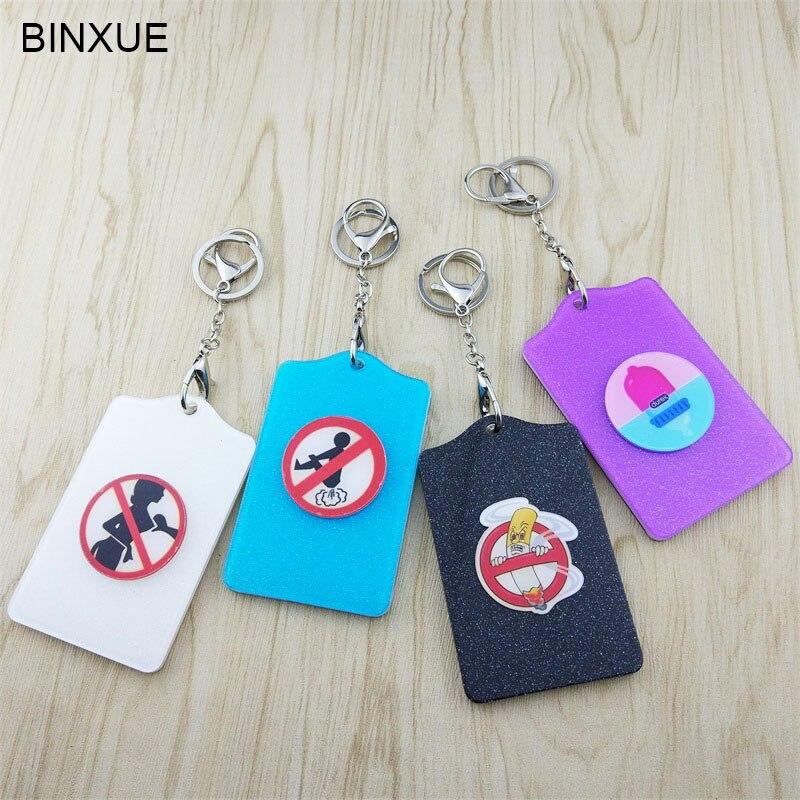 Binxue Creditcard Set Id Kaarthouder Diverse Inductie Kaarten Houder Cartoon Mooie Zaken Toegangscontrole Badge Prijsafspraken Volgens Kwaliteit Van Producten