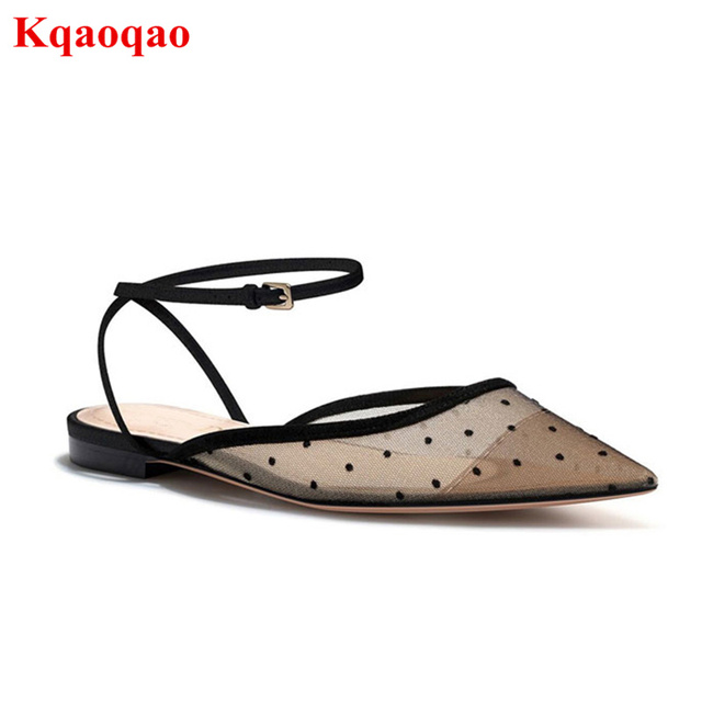 Pointed Toe Women Pumps Low Heel Slingback Shoes Lace Sexy Summer Shoes  Sapato Feminino Chic Lady Party Wedding Brand Sandals 961725c765b0