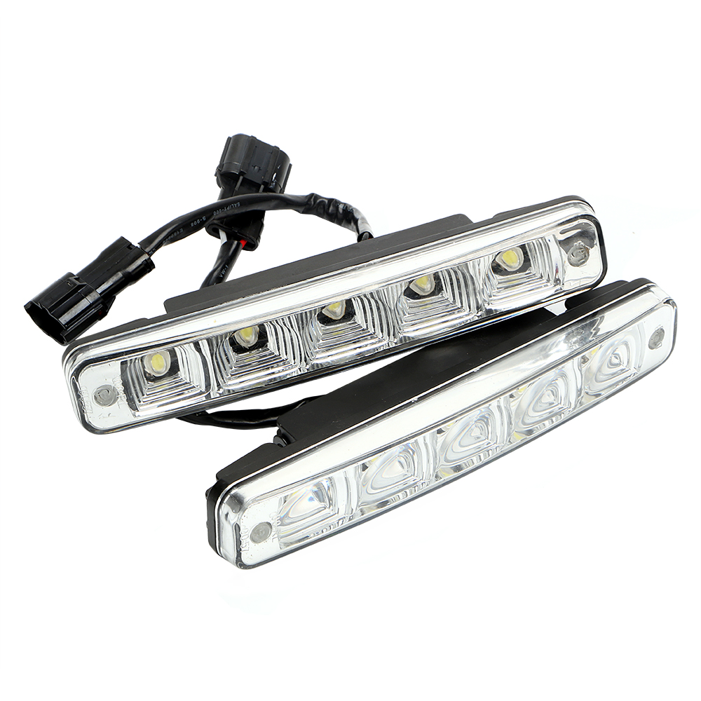 2pcs DC 12V LED Daytime Running Lights High Quality Car DRL Driving Light 5 LEDs Car-styling Auto Fog Lamp Front Right Left hermle настенные часы hermle 70963 030341 коллекция