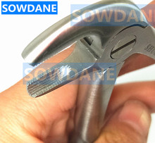 Dental Lower Mandibular Molars tooth extraction forcep Serrated tip for minimally invasive toothdental instrument Curved цена и фото