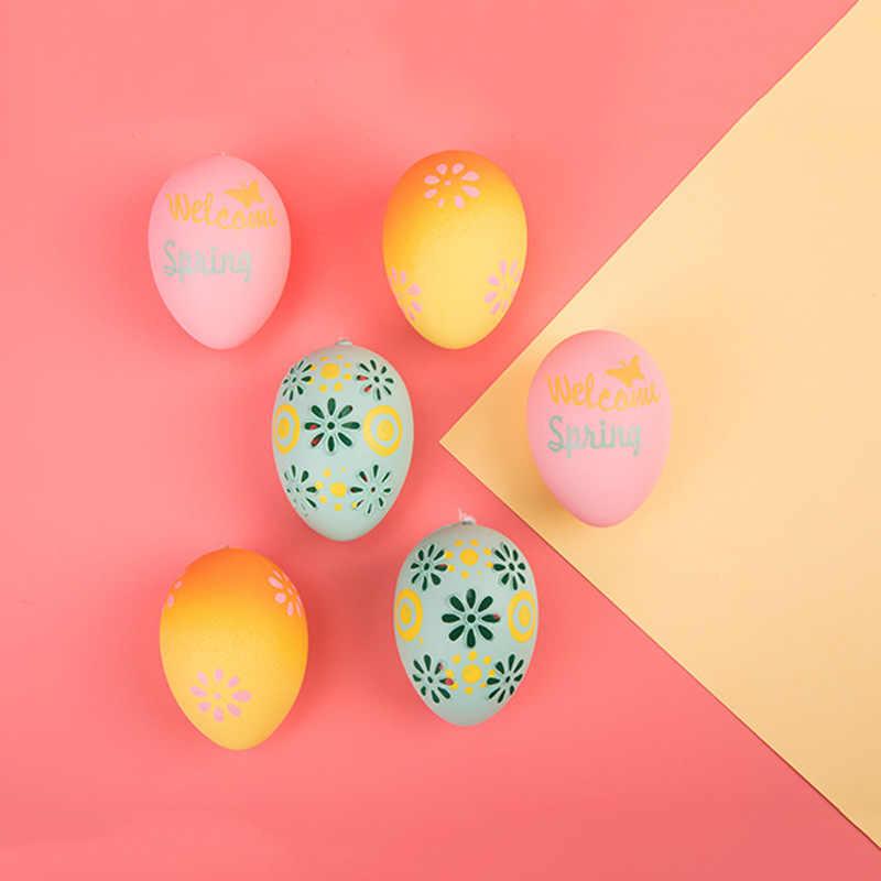 50 шт. Инкубационное яйцо курица птица люк разведение имитация поддельное пластиковое искусственное яйцо DIY Картина Пасхальное яйцо обучающая игрушка J75