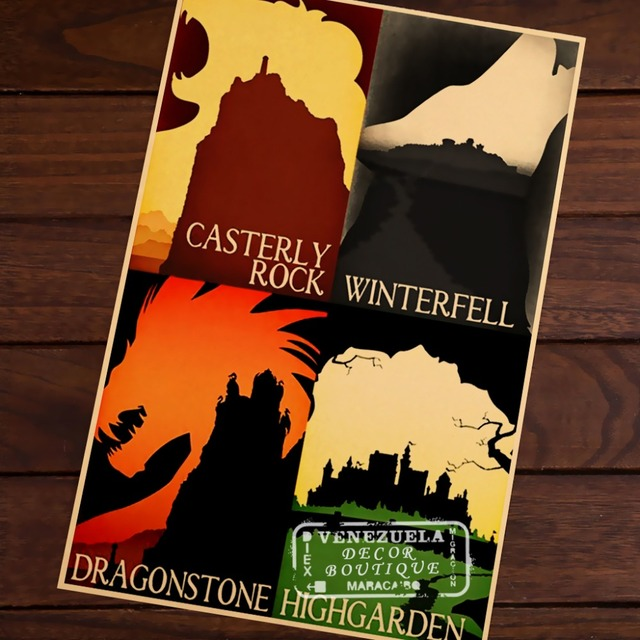 Game of Thrones City Map Travel Poster