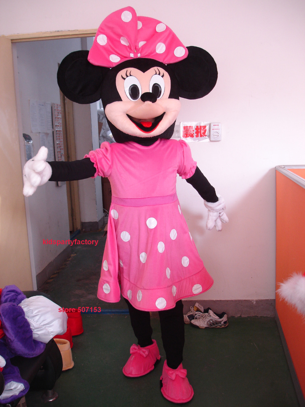 summer hot sale new adult pink minnie mouse mascot costume with suits shoes hands fancy party. Black Bedroom Furniture Sets. Home Design Ideas