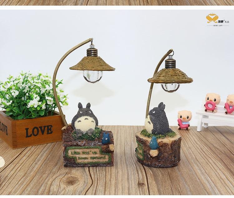 Luzes da Noite adorável totoro levou decoração da Lamp Shade Material : Resin And Wood