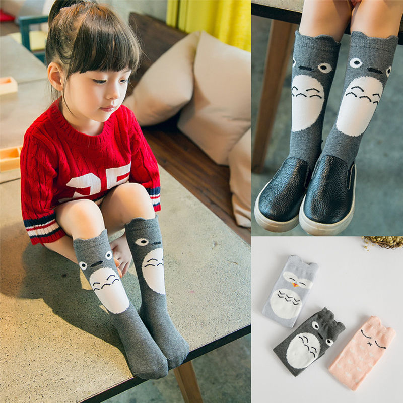 Fashion Toddlers Kids Cute For 0-4 Years Hosiery Knee High Socks Combed Cotton