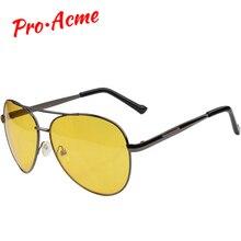 Pro Acme Pilot Night Vision glasses Driving Yellow Lens Classic Anti Glare Visio