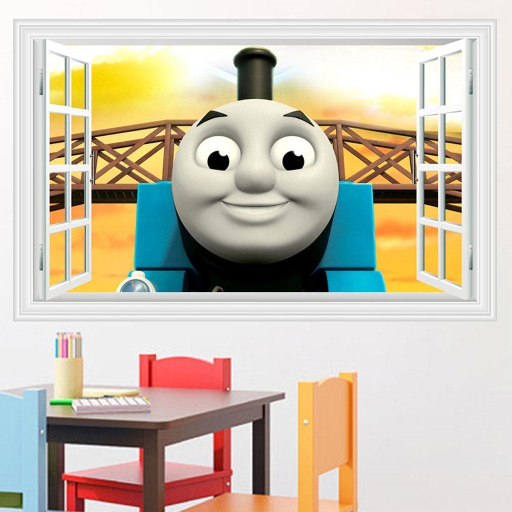 Cute Thomas Train Wall Decor Stickers Childrenu0027s Room Removable Diy Wall  Stikers Kids Room Self