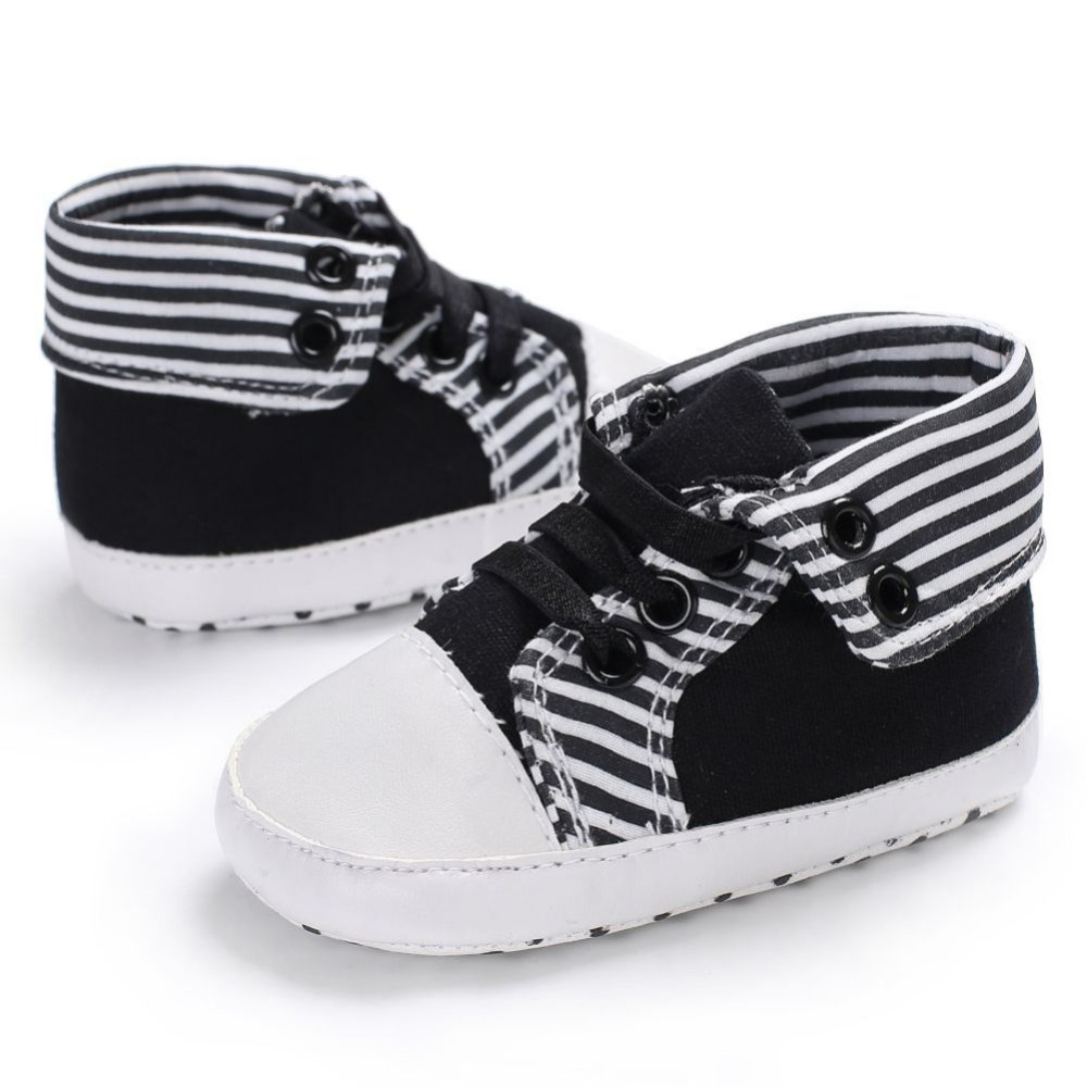 WEIXINBUY Baby Boys Girls First Walkers Stylish Cute Toddler Plaid Lace-Up Soft Sole Infant Prewalker Shoes
