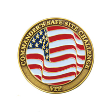Custom Zinc Alloy American Flag Challenge Commemorative Coin