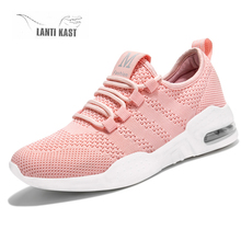 Women Shoes Summer New Sports Walking Breathable Mesh Flat Air Cushion Running Casual Female Sneakers кроссовки