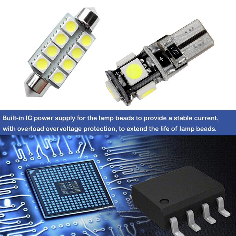 Okrasne luči za avtomobile z LED lučmi C10W W5W za Skoda hitro - Avtomobilske luči - Fotografija 5