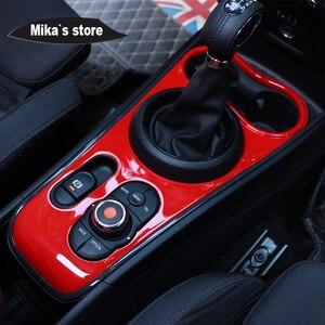 Image 4 - New Car indoor protetto ABS stile Ray del cambio center console pannello per mini cooper F60 countryman auto styling decorazione sticker