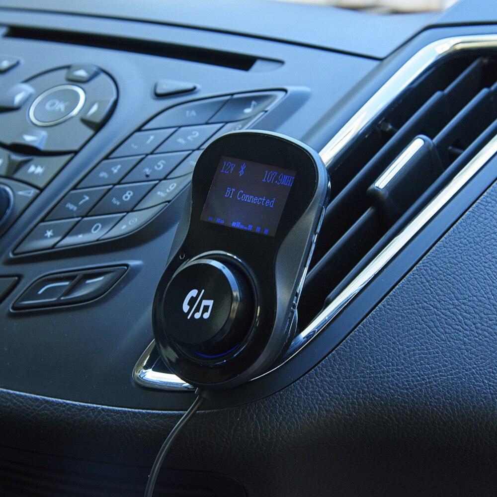 LCD FM Transmitter Handsfree Bluetooth Car Kit Dual USB 3.0 Quick Charge Support TF Card FM Modulator Bluetooth Adapter