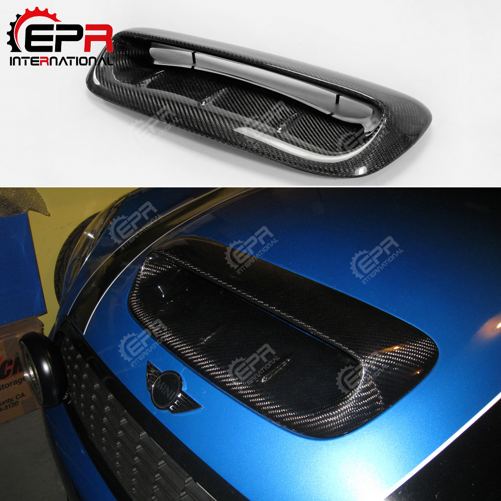 For Mini Cooper S R56 2007 2014 Carbon Fiber Hood Scoop Type A Glossy Finish VTX
