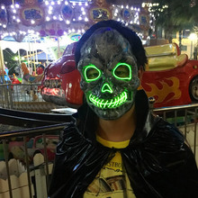 Flash El Wire Led Glowing Mask Halloween Cosplay Costume Masquerade for party