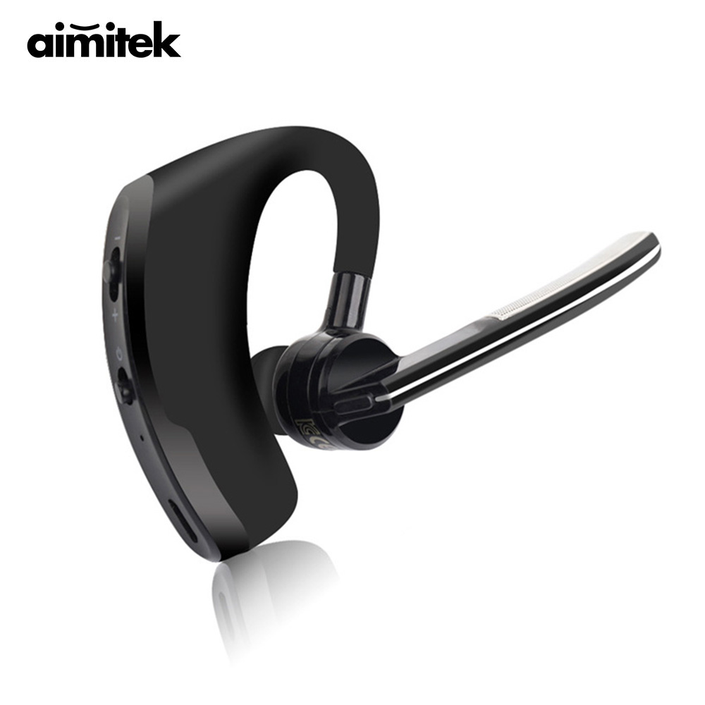 V8 Bluetooth Headset Business Wireless Handsfree Earphone Music Headphone Voice Control with Mic for iPhone Samsung Xiaomi Phone bq 618 wireless bluetooth v4 1 edr headset support handsfree earphone with intelligent voice navigation for cellphones tablet