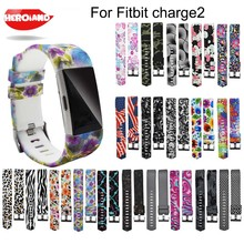 Colorful Watchband Fashion Sports Silicone watchband Bracelet Strap Band wristband For Fitbit Charge 2 Pattern Wrist Strap 2018