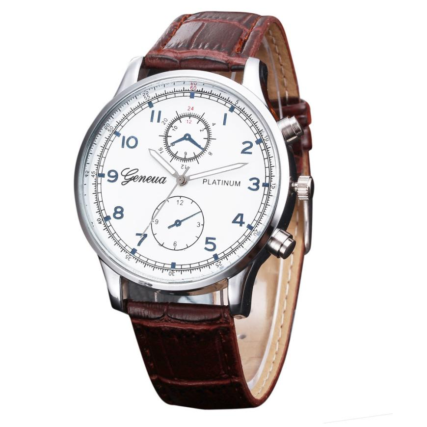2019 Mens Watches New Retro Design Leather Band Analog Alloy Quartz Man Wrist Watch Luxury Casual Business Male Hand Clock A65
