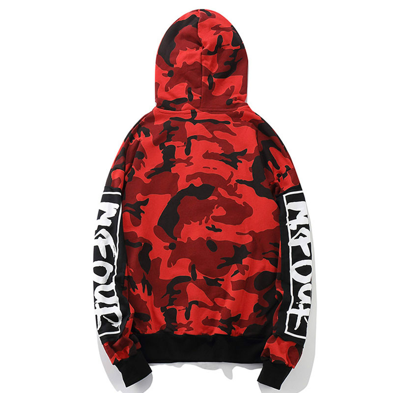 838dd94da2aa Army Green Red Camouflage Hoodie Men Sweatshirt Hooded Pullover Streetwear Oversized  Mens Sweatshirts Hip Hop Camo Hoodies Male