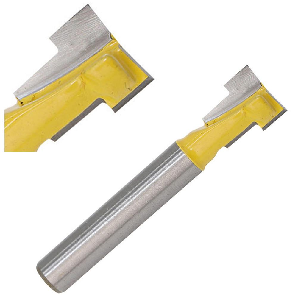 1/4 inch schaft gelb t slot cutter lock loch router bit holz cutter