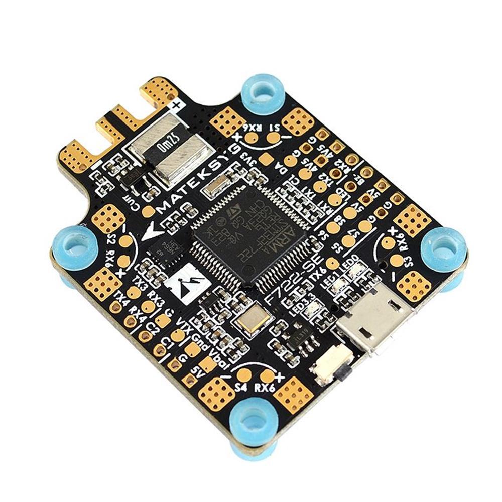 Système Matek F722-SE F7 double contrôleur de vol Gryo avec capteur de courant BEC OSD boîte noire pour Drone RC