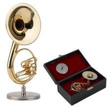 2017 Golden Mini Sousaphone Small Size Music Instrument Ornament Music Model Miniature Sousaphone Instrument Model Best Gift