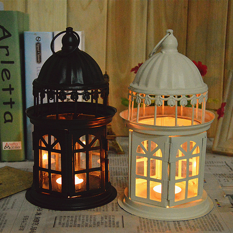 Europe style candle holder home decoration retro big castle candlestick creative metal craft for - European inspired home decor photos ...