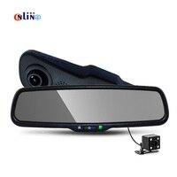 170 градусов Full HD 1080 P 30FPS 854*480 5.0 TFT ЖК дисплей кронштейн автомобиля подкладке заднего Парковка зеркало монитор с видео Регистраторы DVR