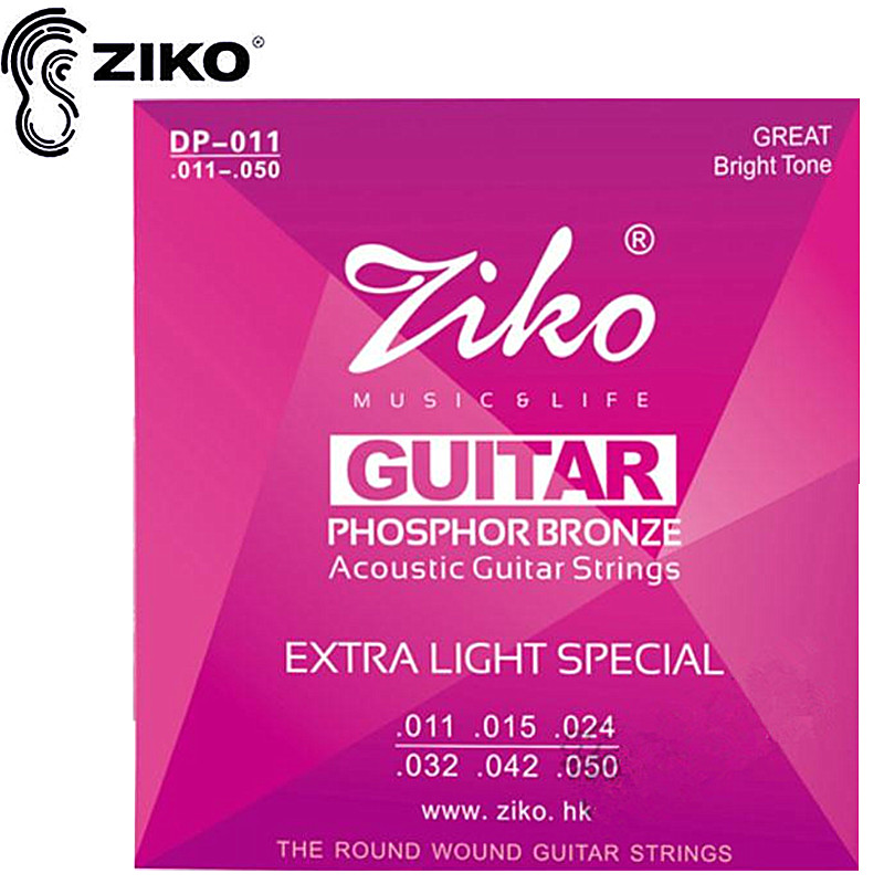 ZIKO 011-050 DP-011 Acoustic guitar strings musical instruments Accessories guitar parts gibson sag mb11 masterbuilt phosphor br 011 050