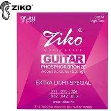 Nemokamas pristatymas Elixir 011-052 Nanoweb 11027 Akustinės gitaros stygos muzikos instrumentų priedai gitaros dalys didmeninė prekyba