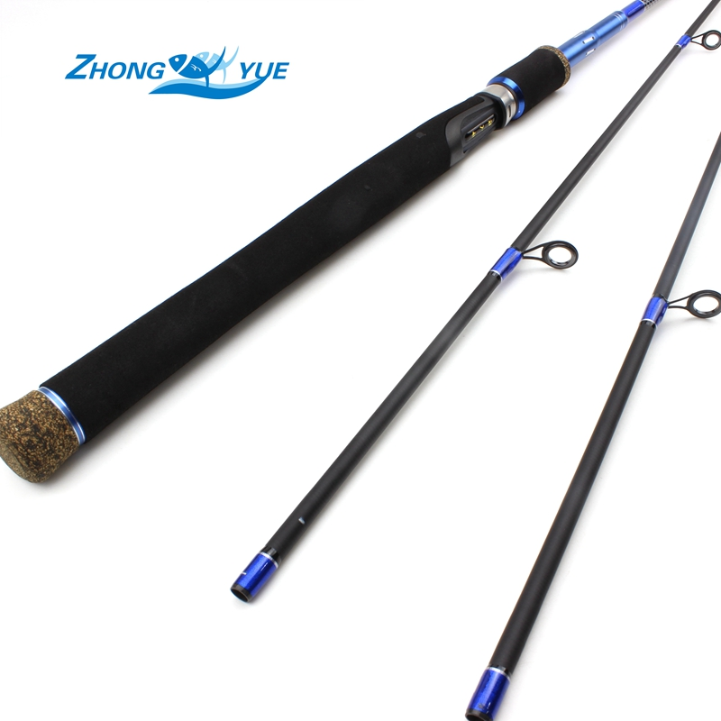 ФОТО 2017 New Arrival High Quality 2 Tips M/MH Power 2.1M Carbon Casting Spinning Lure Fishing Rod Lowest profit