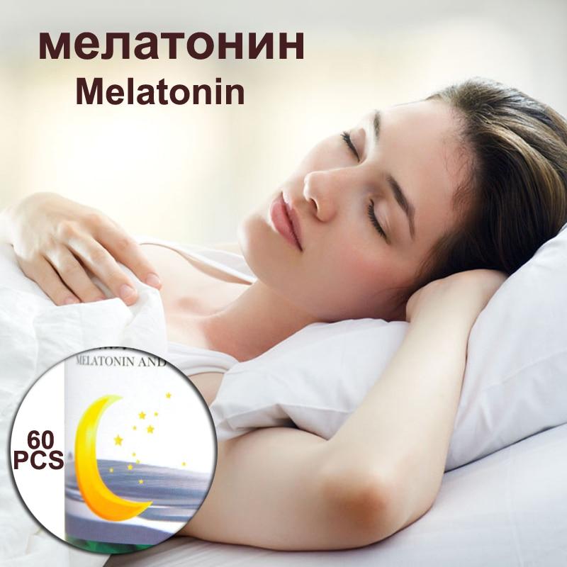 Melatonin Sleep Aid Free Shipping Nighttime Body Relaxation 1 bottle melatonin softgel melatonin soft capsule improve health anti aging protect prostate improving sleep
