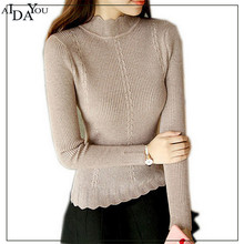 Autumn winter women base sweaters pullovers fashion korea cute turtleneck sweater full sleeve casual party ouc1224