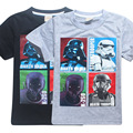2017 new cartoon baby boys t shirts star wars children t-shirts kids summer tops for 3-12Years designs Teen clothes girls tees