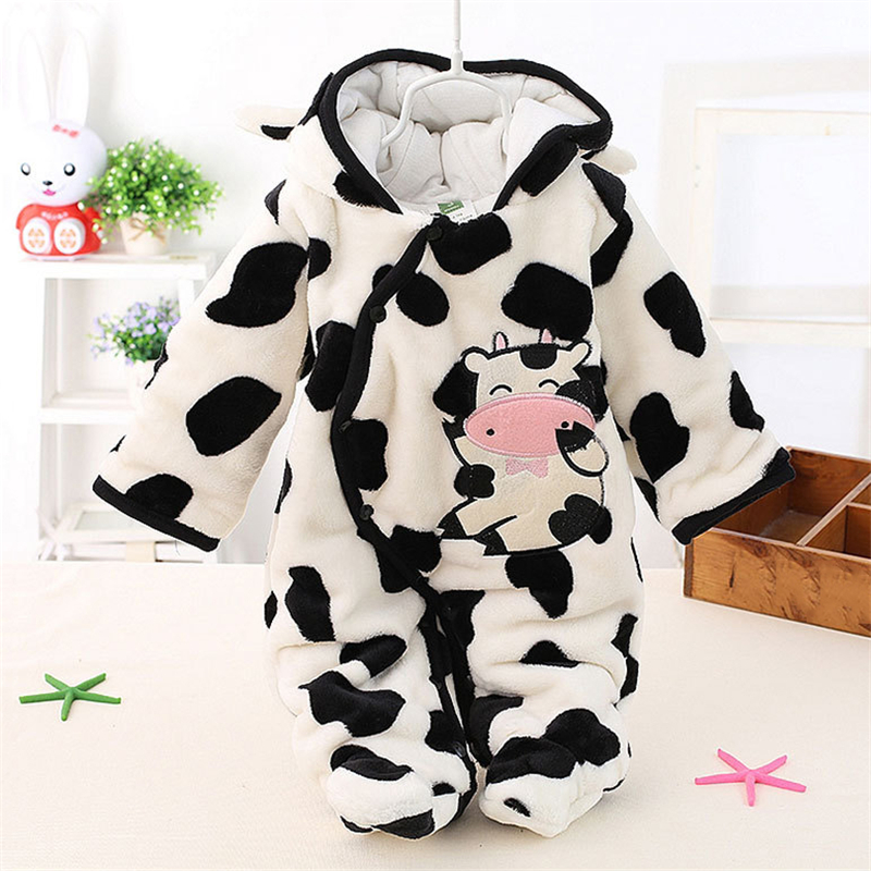 611eae7728b Newborn Baby Girls Clothing Coral Fleece Winter Boy Rompers Cartoon Infant  Clothes Meninas Bear Down Snowsuit Babies Jumpsuits