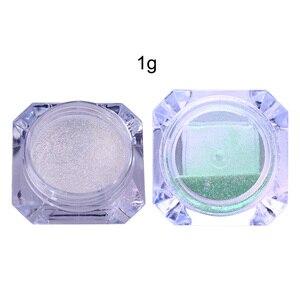 Image 5 - BORN PRETTY 8Pcs/Set Bling Mirror Nail Glitter Chameleon Powder Gorgeous Nail Art Sequins Chrome Pigment Glitters