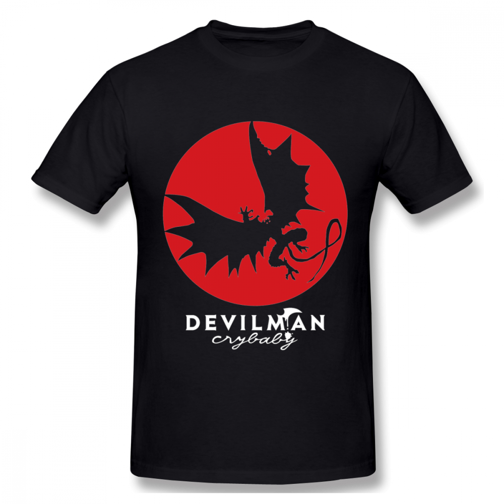Anime Redmoon Devilman Crybaby T Shirt Male 3D Print Graphic Tee Shirt Crewneck Unique Custom Homme T-shirt