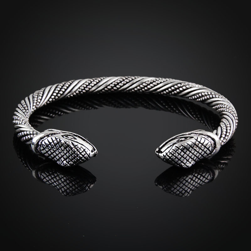 Bracelet Viking tête serpent  3