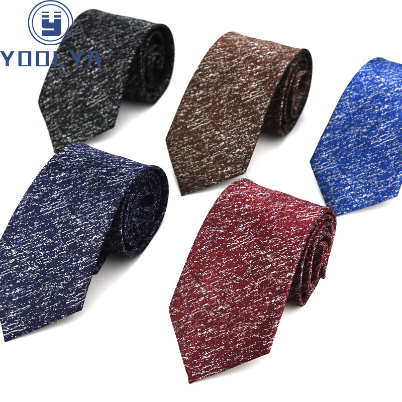 Classic Men's Ties Red Blue Solid Color 8cm Jacquard Woven Necktie Accessories Daily Neck Wear Cravat Wedding Party Gift