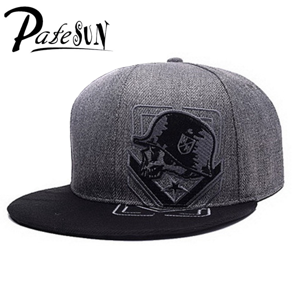 PATESUN Top Selling Gothic Men's Baseball Cap Women Hats 2016 New Fashion Brand Snapback Caps Men hip hop beisebol touca