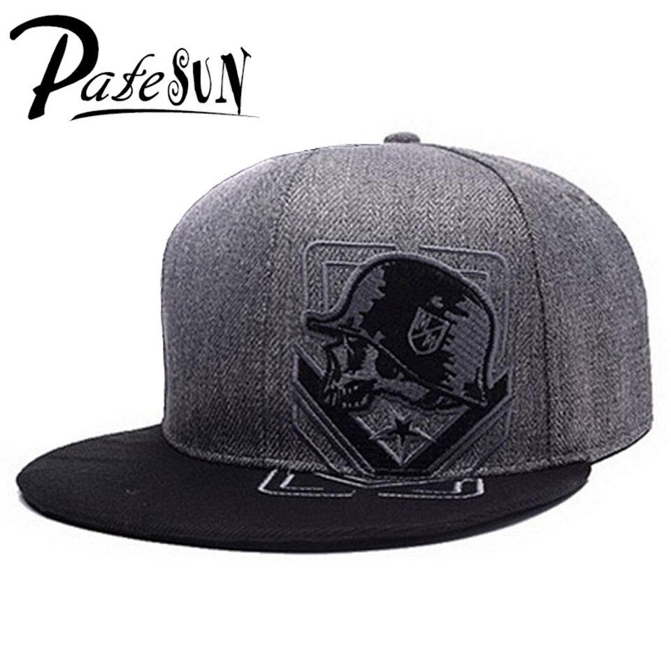 PATESUN Top Selling Gothic Men's Baseball Cap Women Hats New Fashion Brand Snapback Caps Men hip hop beisebol touca