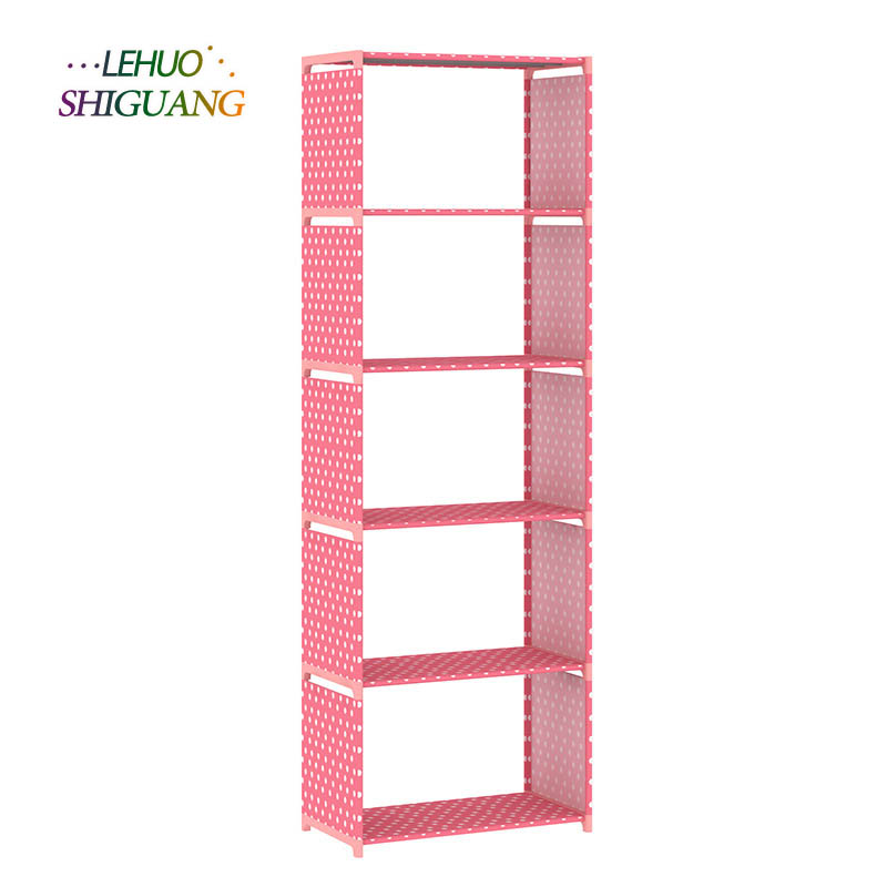 Five non-woven dust-proof shelves children's bookshelf simple floor shelf storage rack multi-functional free combination children s bookcase shelf bookcase cartoon toys household plastic toy storage rack storage rack simple combination racks