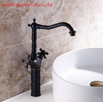 Permalink to kitchen faucet antique oil rubbed bronze kitchen faucet black bronze black faucet antique kitchen mixer double handle sink mixer
