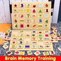 Zabawki dla dzieci drewniane zabawki Montessori pamięci mózgu szkolenia Puzzle pokładzie matematyki dla dzieci zabawki edukacyjne wczesna edukacja dla dzieci prezenty