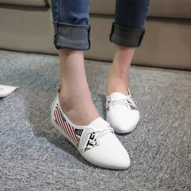 Flat shoes hot saling spring autumn high quality new style classic pointed toe lace up shoes women casual breathable flat shoes new hot spring summer high quality fashion trend simple classic solid pleated flats casual pointed toe women office boat shoes