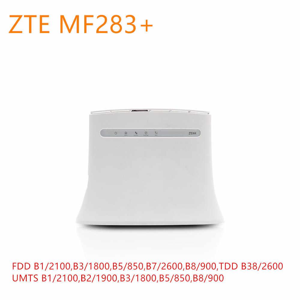 ロック解除 ZTE MF283 + プラス LTE 4 グラムワイヤレス Wi-Fi ルータホットスポット 4 4G LTE Cpe ルータワイヤレスゲートウェイ 4 RJ45 USB ポート mf283