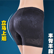 Women s False Butt Pads Panties Lace Low Waisted Briefs Body shaping padded Fake Ass female